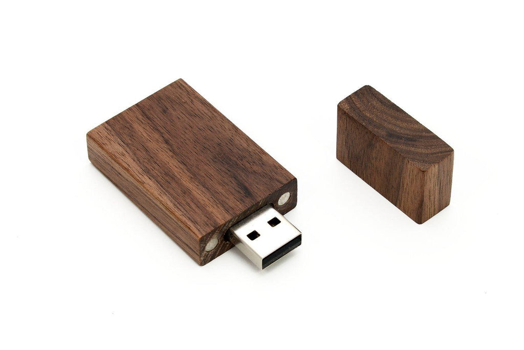 3.0 Speed Walnut Large Rectangle Usb Flash Drive