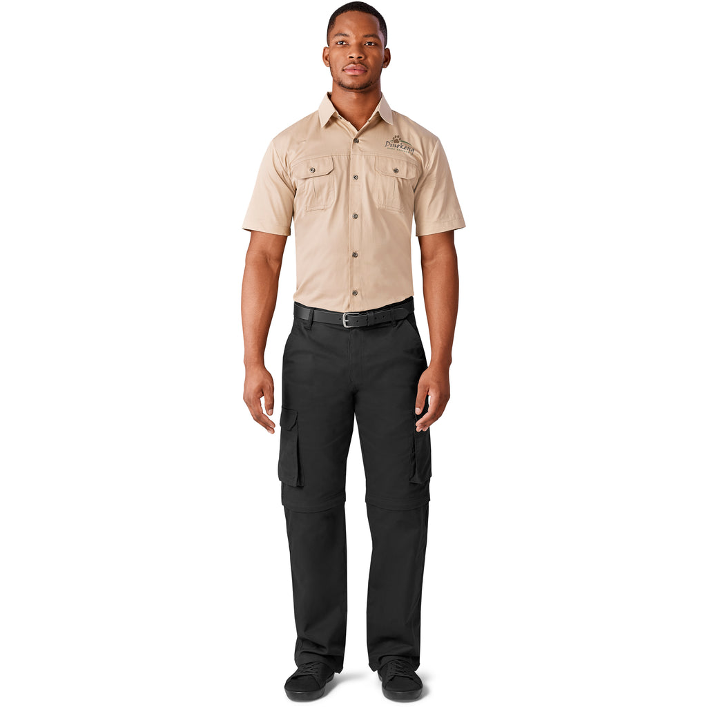 Mens Cargo Zip Off Pants