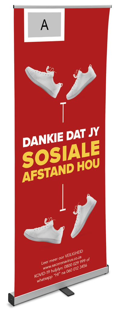 Centauri Afrikaans Covid-19 Pull-Up Banner