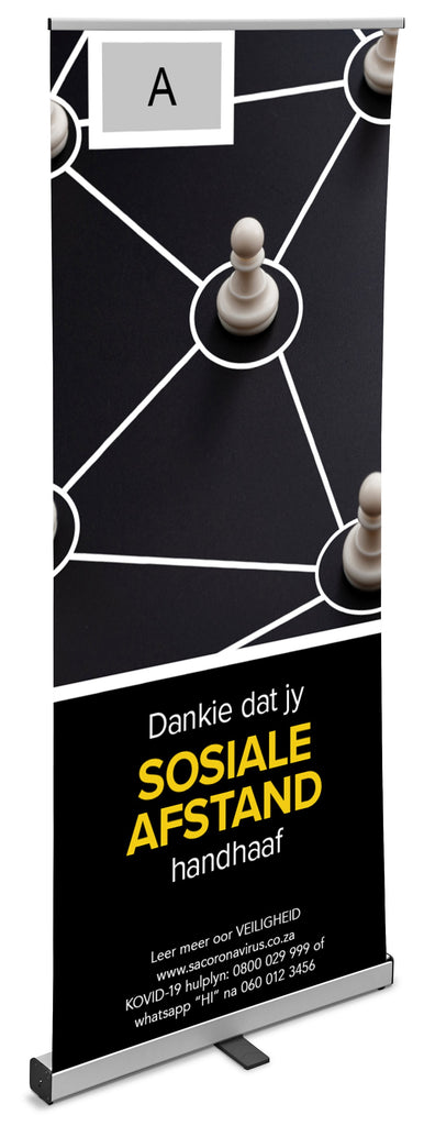 Epsilon Afrikaans Covid-19 Pull-Up Banner