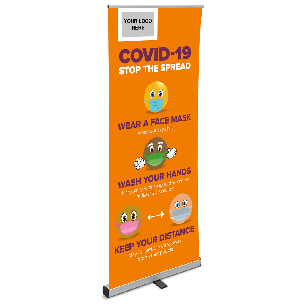 Antares Africa COVID-19 Pull-Up Banner