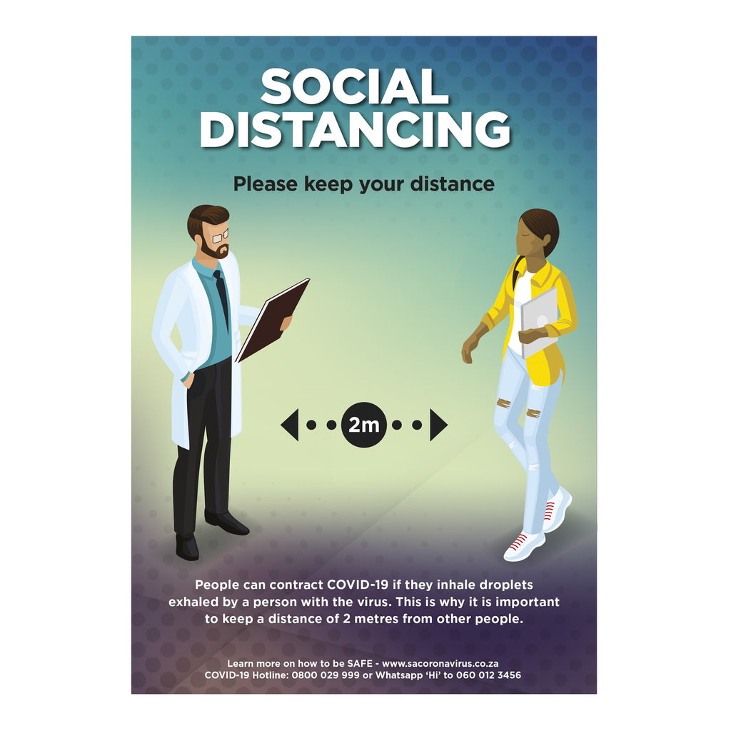 Saturn  A1 Social Distance Poster (Set of 3)