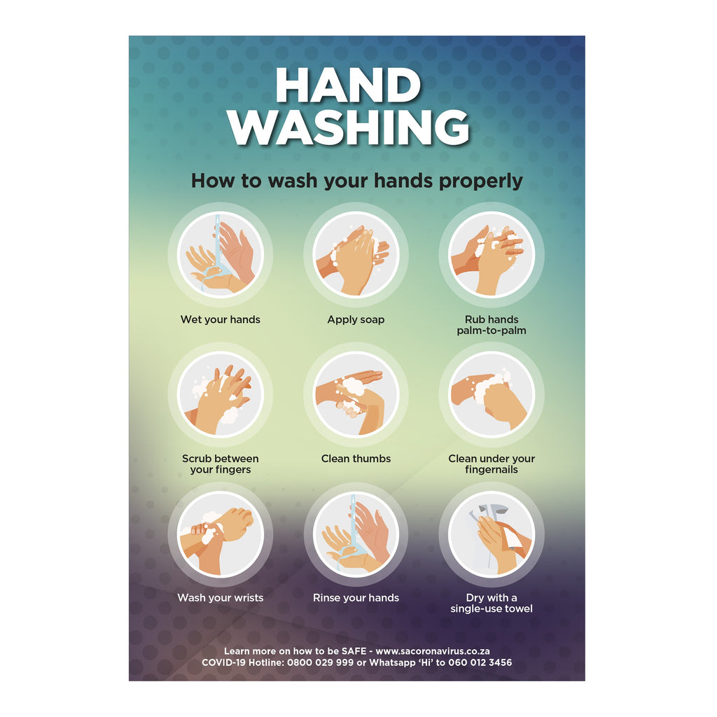 Saturn  A1 Hand Wash Poster (Set of 3)