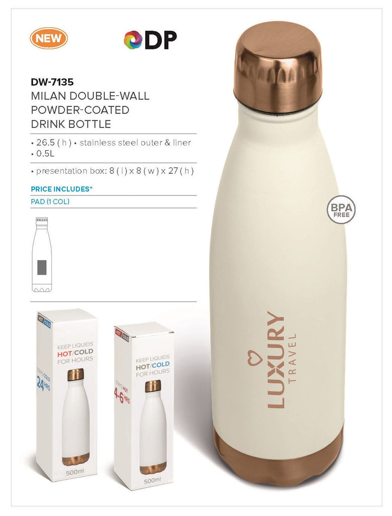 Milan Double-Wall Water Bottle - 500ml