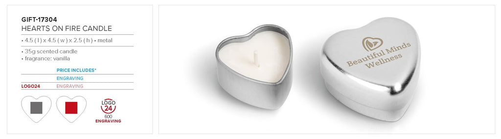 Hearts-On-Fire Candle