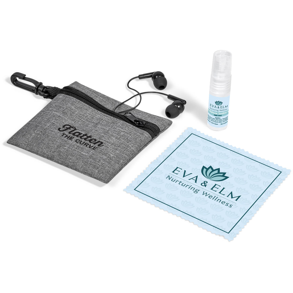 Eva & Elm Brina Cellphone Cleaner and Earbuds Set