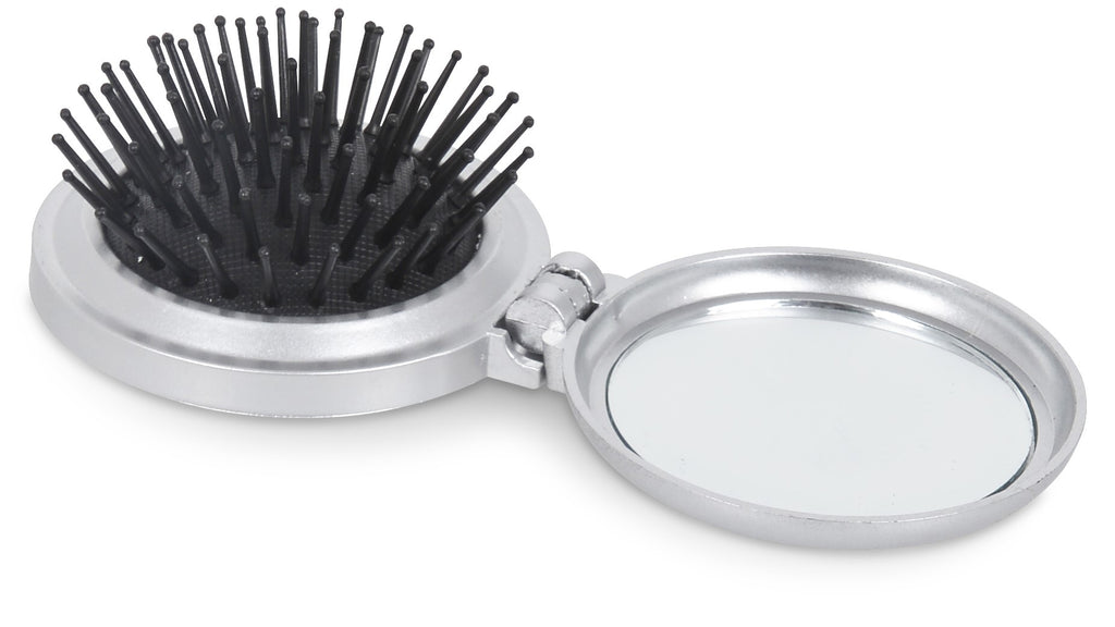 Gloss Compact Brush And Mirror