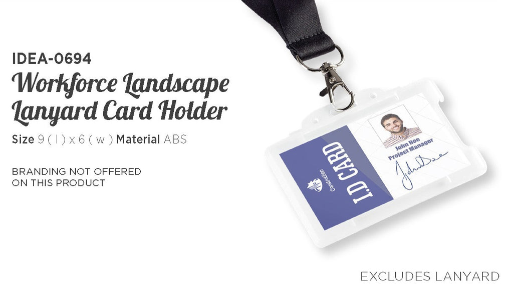 Workforce Landscape Lanyard Card Holder