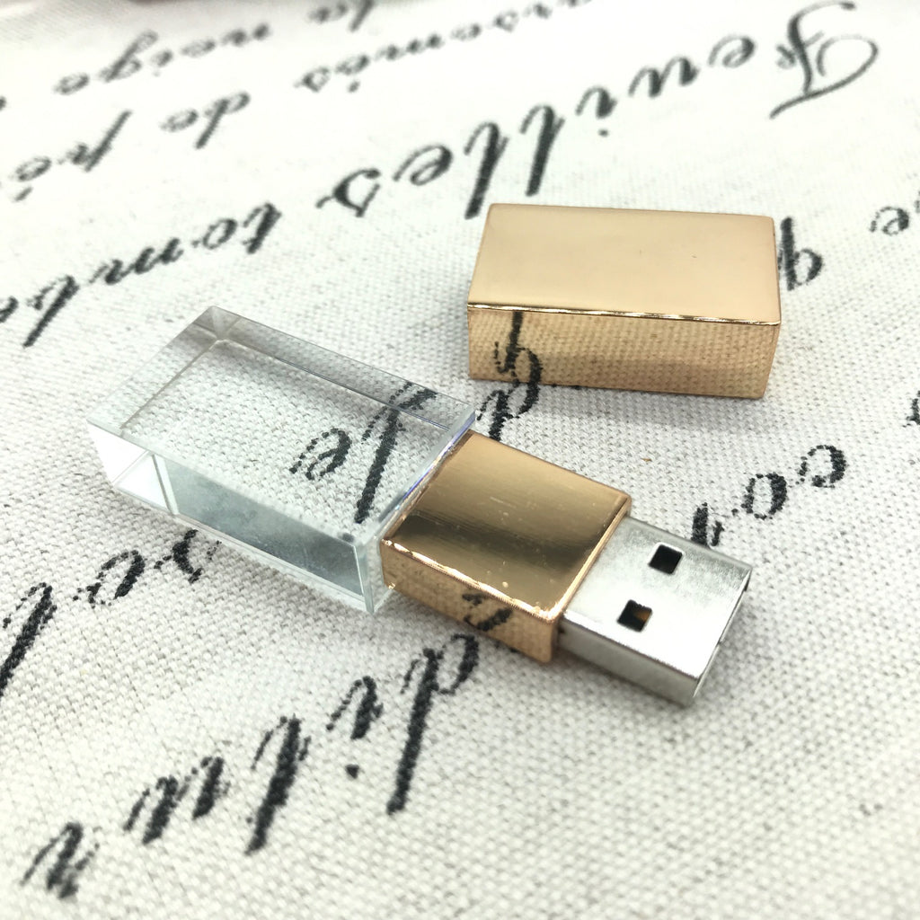 16Gb 3.0 Gold Crystal USB Flash Drive