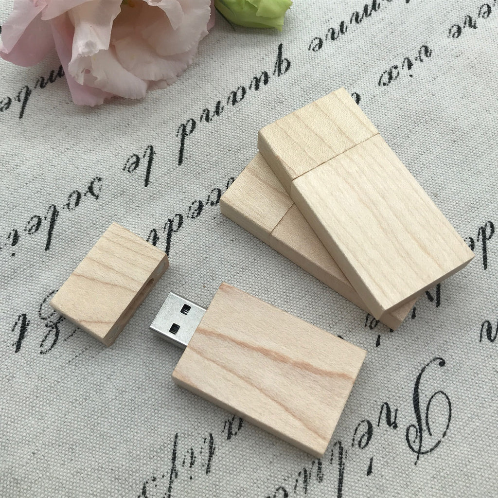 Maple wood flash drive. Eco friendly product