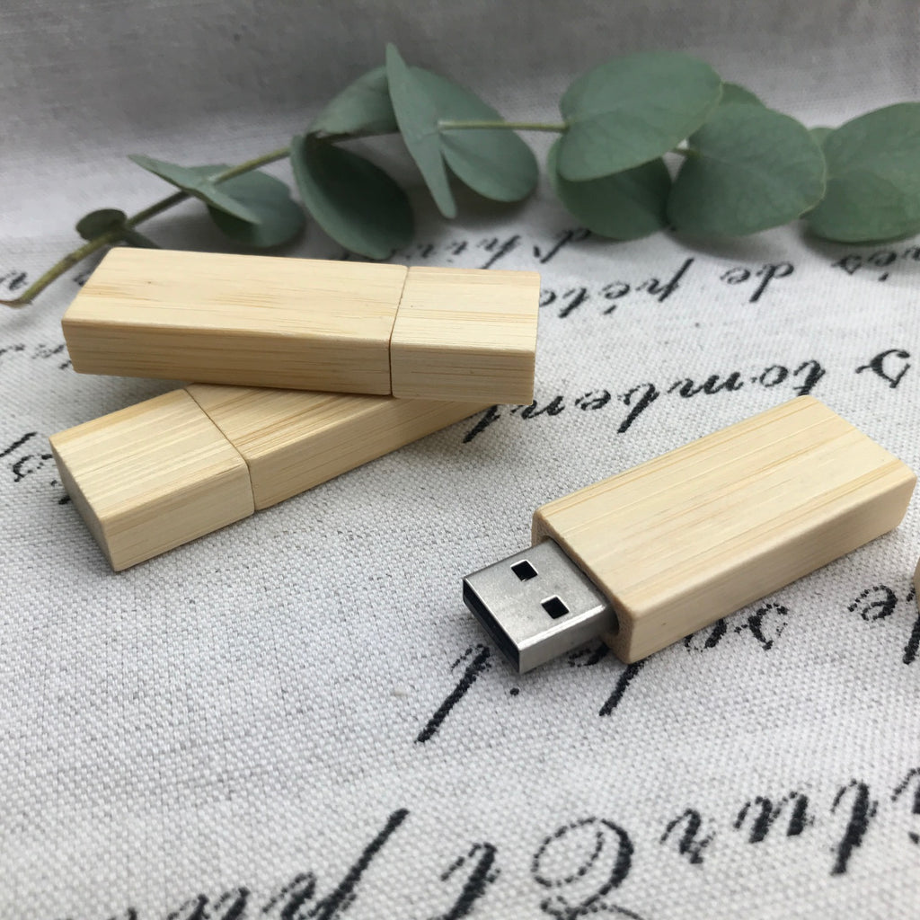 Bamboo usb. Rectangle wood usb.