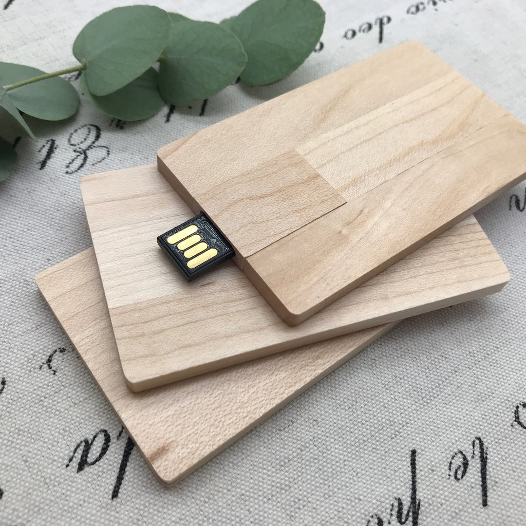 8GB Wooden Card USB