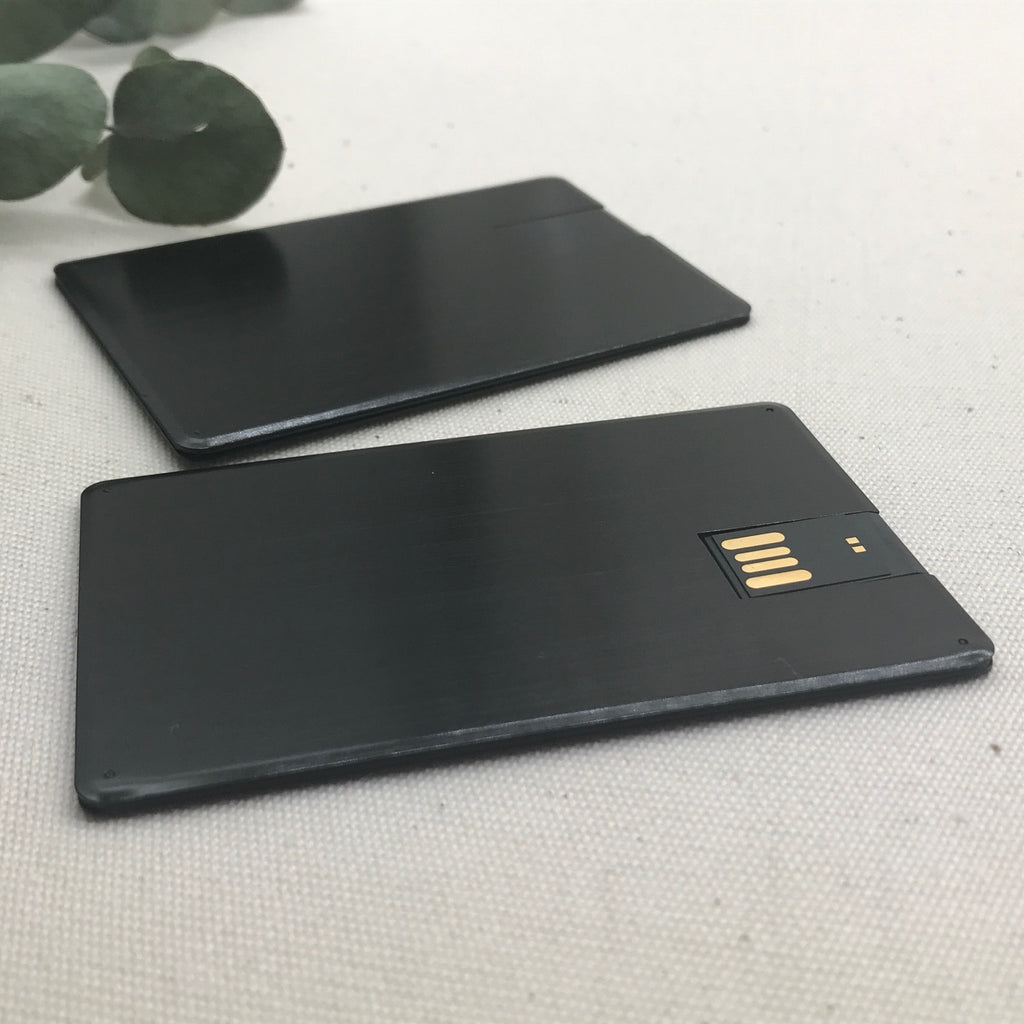 Black Alloy Metal Credit Card USB
