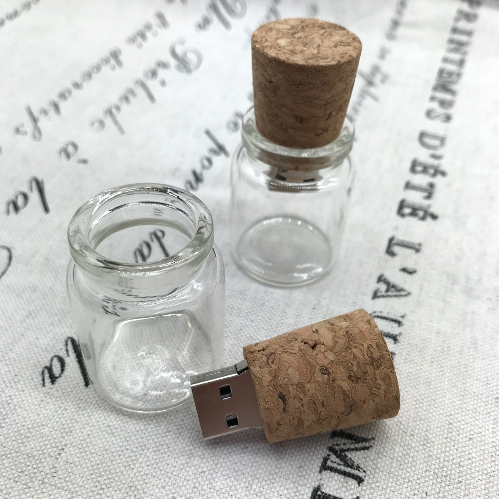 glass and cork usb
