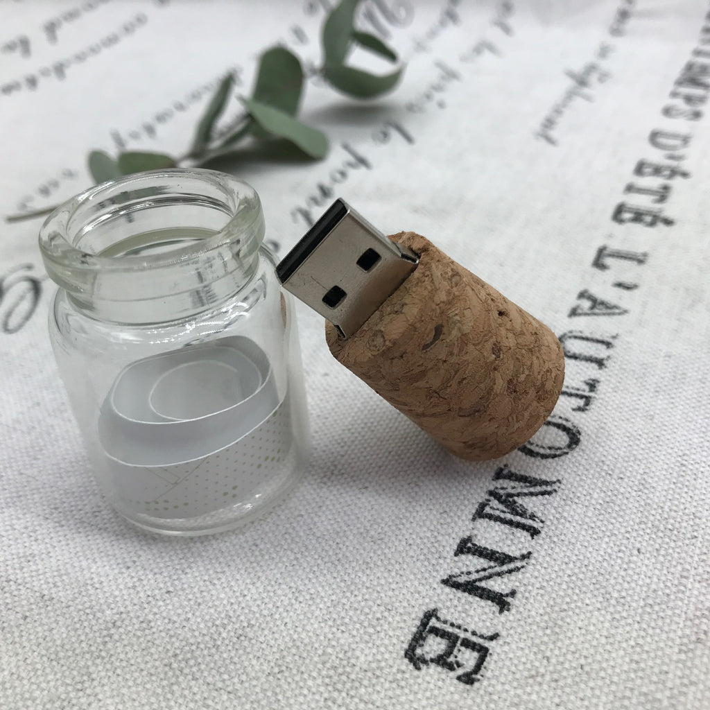 message in a bottle usb, flash drive