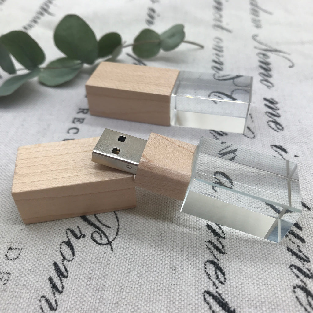 Maple Wood Crystal USB