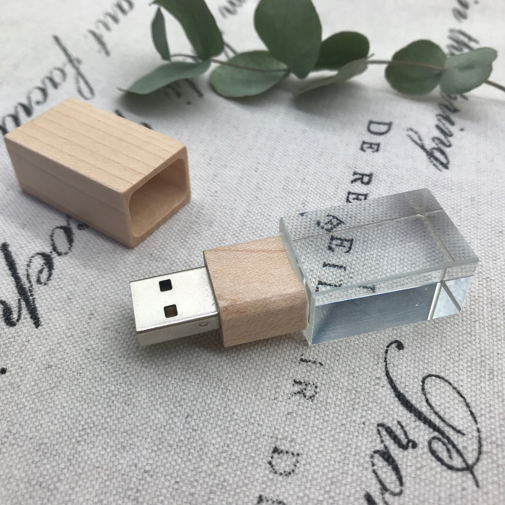 Mapel Wooden Crystal USB