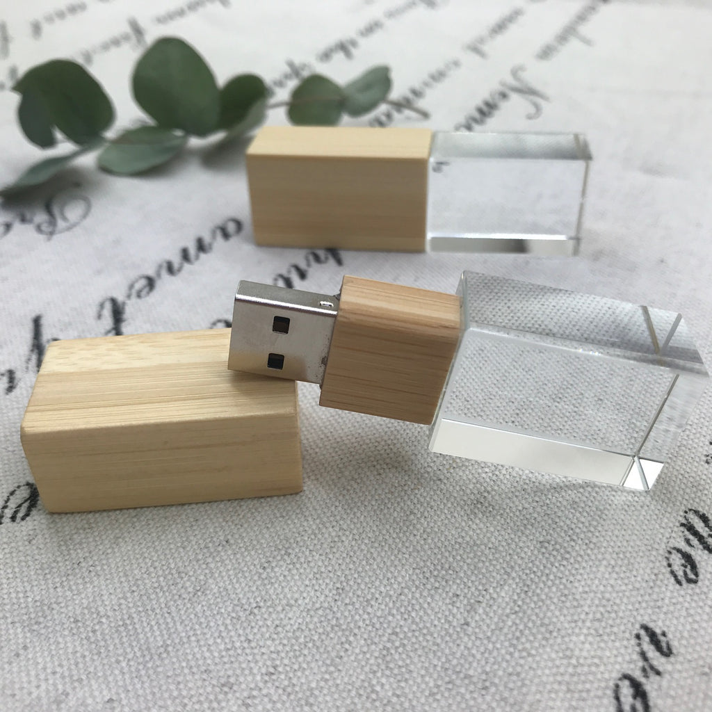 Bamboo Crystal Usb. Bamboo crystal flash drive.