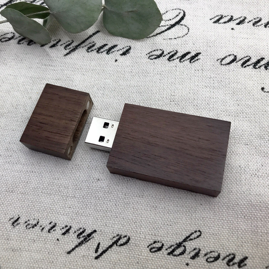 walnut dark wood USB