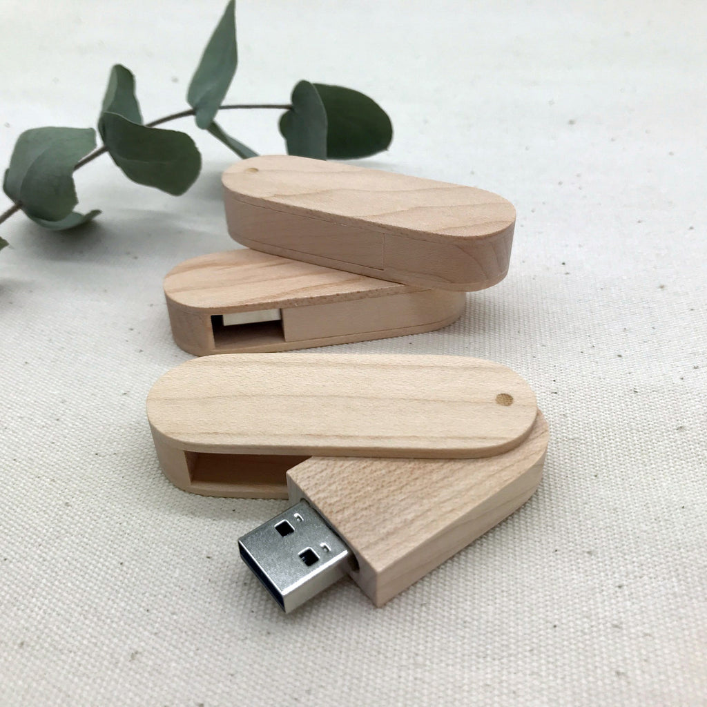 natural wood swivel usb