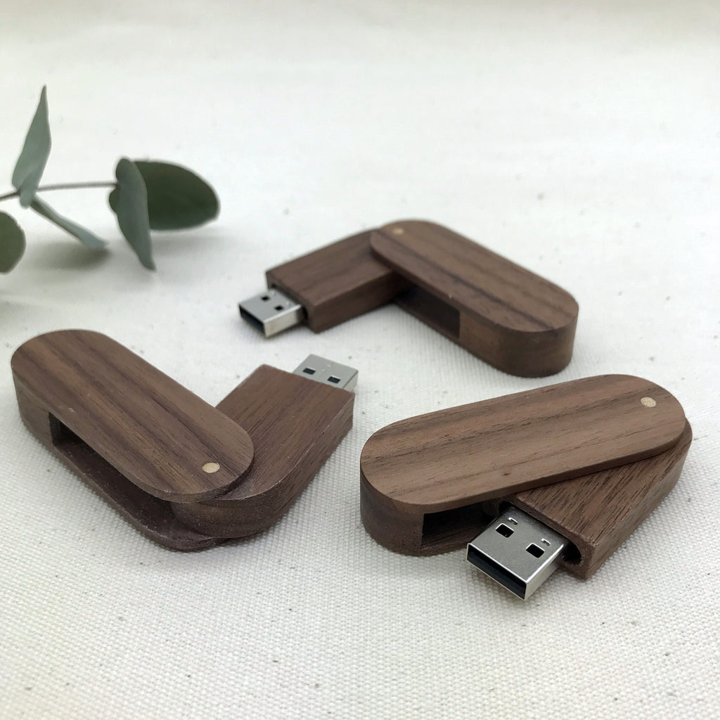 Walnut Swivel USB