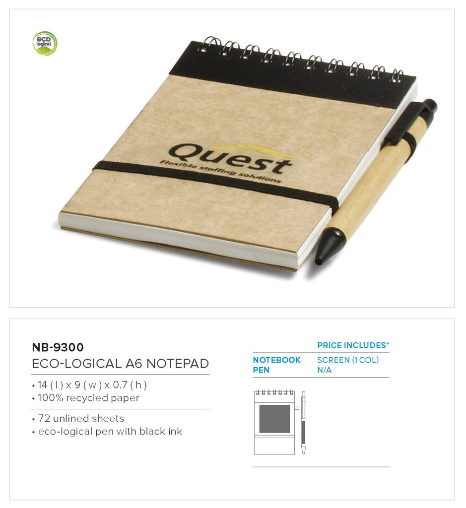 Eco-Logical A6 Notepad -  Only