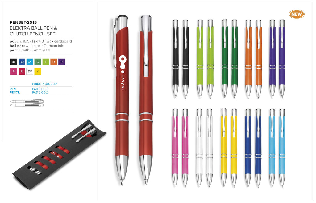 Elektra Ball Pen & Clutch Pencil Set