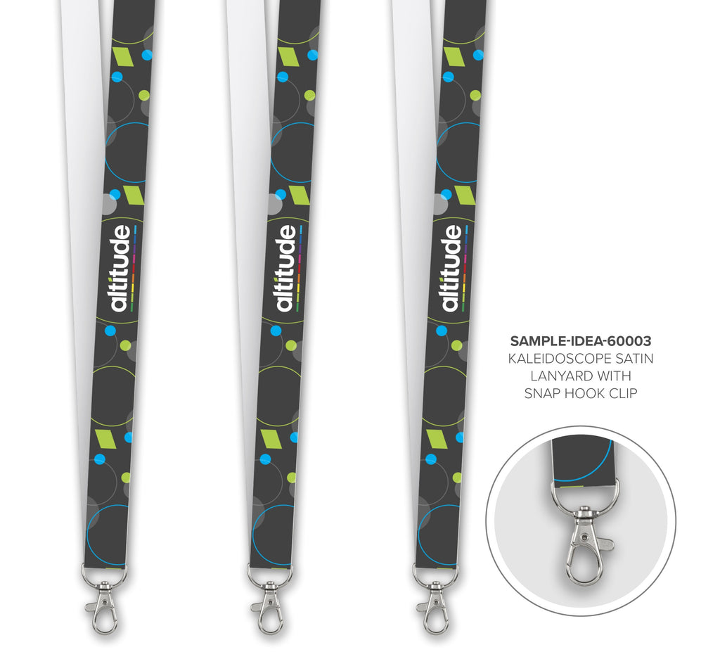 Kaleidoscope Satin Lanyard - Sample