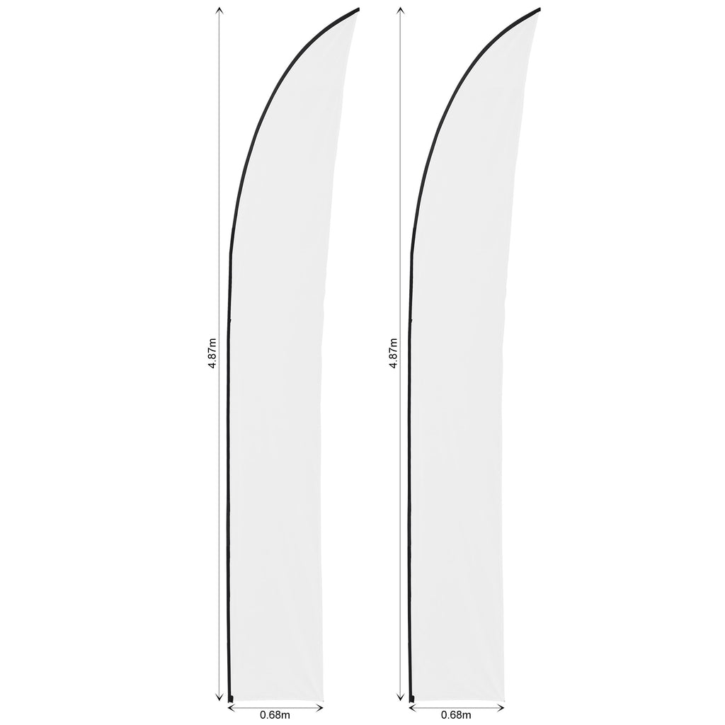Legend 4m Arcfin Flying Banner Skin (Set of 2)