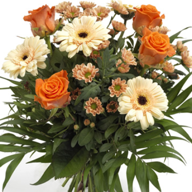 Trina -  Orange & Cream Bouquet.