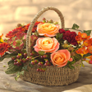 Umie - Orange/Ruby Red Basket.