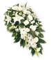 Vyne - Single Ended Funeral Spray - Lily and Roses