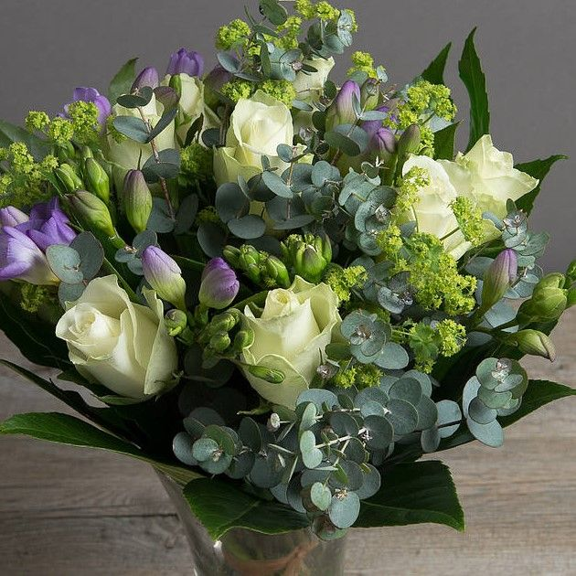 Colisano - Cream Roses &  Lilac Freesia Bouquet