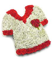 Football Shirt - Funeral Flowers