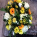 Funeral Posy - Gold, Yellow and White Flowers