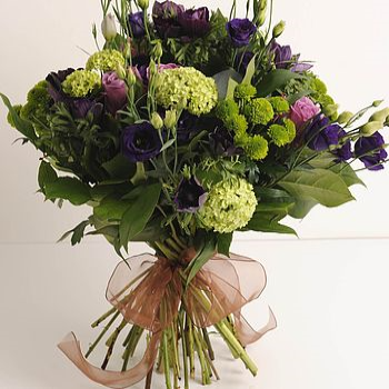 Herriard - Lime Green, Purple & Pink Bouquet.