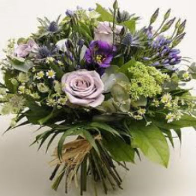 Highcliffe -  Vintage Lilac Roses, Creams and Blue.