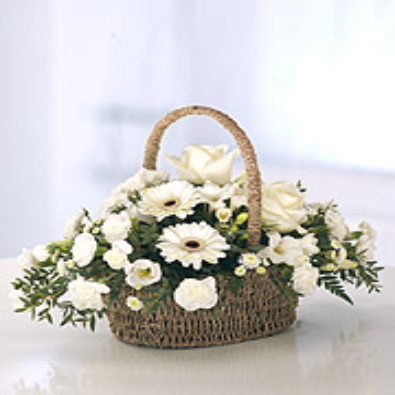 Cassina - Basket of White Flowers. Mothers Day.
