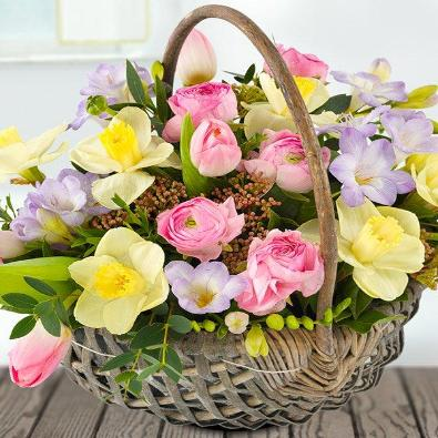Casi  - Basket of Funeral flowers