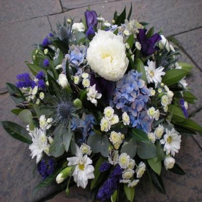 Lizbet - Lilac and Blue Funeral Wreath