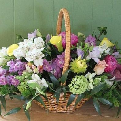 Bighton - Funeral Basket Arrangement