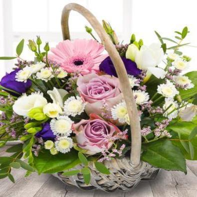 Venetia - Lilac and Pink Flower Basket