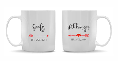 Custom Made Name Mugs