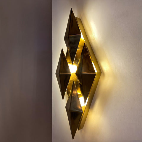 Brass Diamond Wall Light Shop