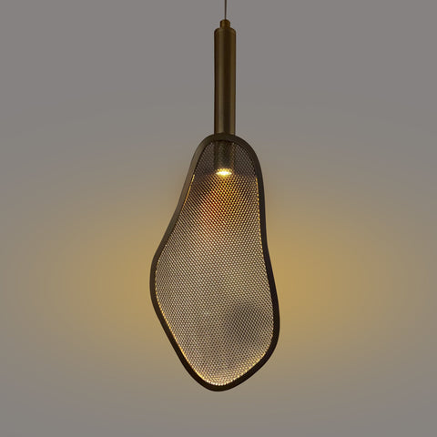 Brass Screen LED Hanging Light India
