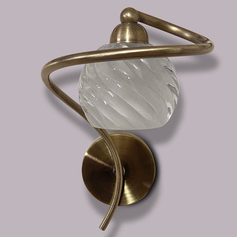 Brass Swirl Single Wall Light India