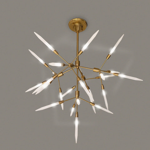 Brass Tree LED Chandelier India
