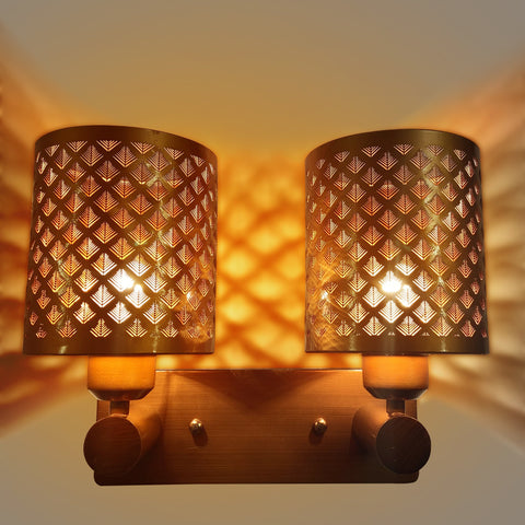 Brass Weaving Double Wall Light store