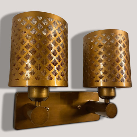Brass Weaving Double Wall Light
