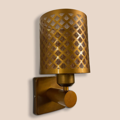 Brass Weaving Single Wall Light India